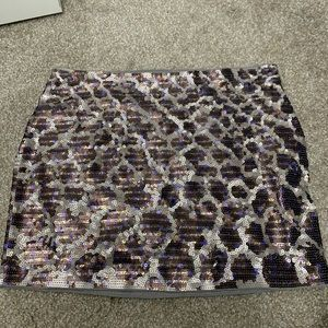 sequined mini skirt from express